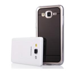 Funda Gel Tpu Efecto Espejo Gris para Samsung Galaxy J5