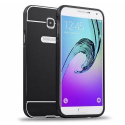 Funda Bumper Negra Aluminio + Tapa Trasera para Samsung Galaxy A5 (2016)