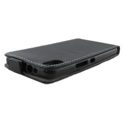 Funda Piel Premium Ultra-Slim Bq Aquaris X5 Negra