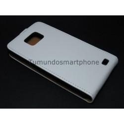 Funda Piel Premium Ultra-Slim Samsung Galaxy S2 I9100 Blanca