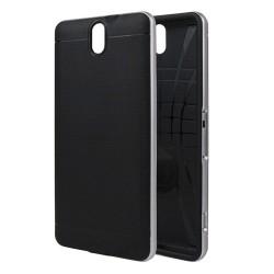 Funda Tipo Neo Hybrid (Pc+Tpu) Negra / Plata para Sony Xperia C5 Ultra