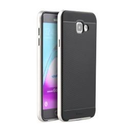 Funda Tipo Neo Hybrid (Pc+Tpu) Negra / Plata para Samsung Galaxy A3 (2016)