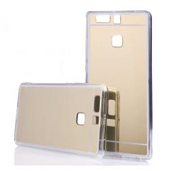 Funda Gel Tpu Efecto Espejo Dorada para Huawei P9