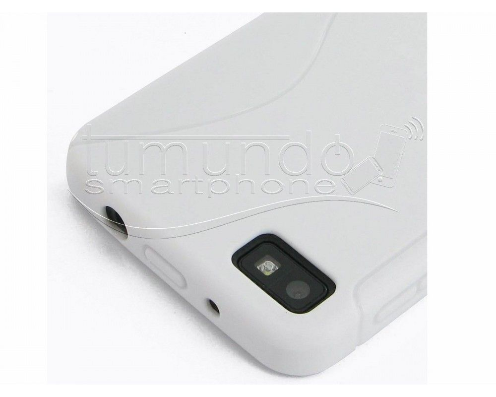 Funda Gel Tpu Blackberry Z10 S Line Color Blanca