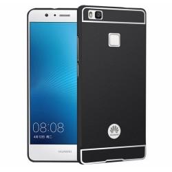 Funda Bumper Negra Aluminio + Tapa Trasera para Huawei P9 Lite