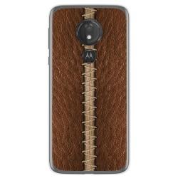 Funda Gel Tpu para Motorola Moto G7 Power diseño Cuero 01 Dibujos