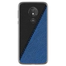 Funda Gel Tpu para Motorola Moto G7 Power diseño Cuero 02 Dibujos