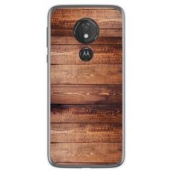 Funda Gel Tpu para Motorola Moto G7 Power diseño Madera 02 Dibujos