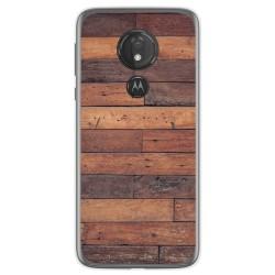 Funda Gel Tpu para Motorola Moto G7 Power diseño Madera 03 Dibujos
