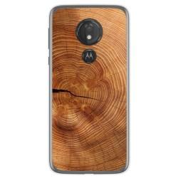 Funda Gel Tpu para Motorola Moto G7 Power diseño Madera 04 Dibujos