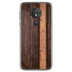 Funda Gel Tpu para Motorola Moto G7 Power diseño Madera 05 Dibujos