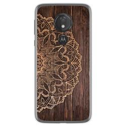 Funda Gel Tpu para Motorola Moto G7 Power diseño Madera 06 Dibujos