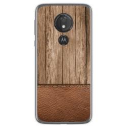 Funda Gel Tpu para Motorola Moto G7 Power diseño Madera 09 Dibujos
