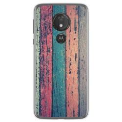 Funda Gel Tpu para Motorola Moto G7 Power diseño Madera 10 Dibujos