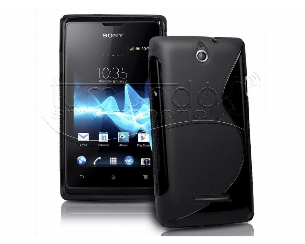 Funda Gel Tpu Sony Xperia E  S Line Color Negra
