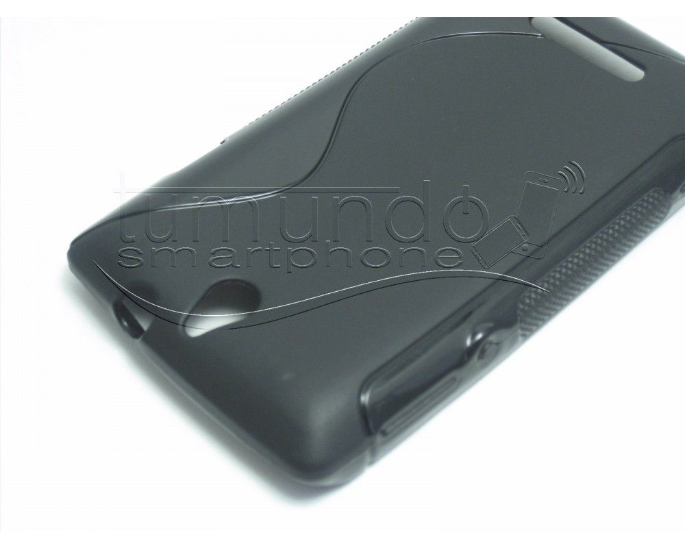 Funda Gel Tpu Sony Xperia E  S Line Color Negra