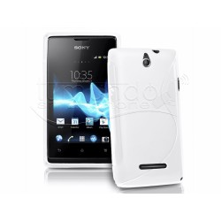 Funda Gel Tpu Sony Xperia E  S Line Color Blanca