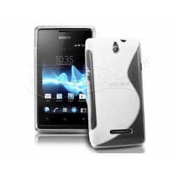 Funda Gel Tpu Sony Xperia E S Line Color Transparente