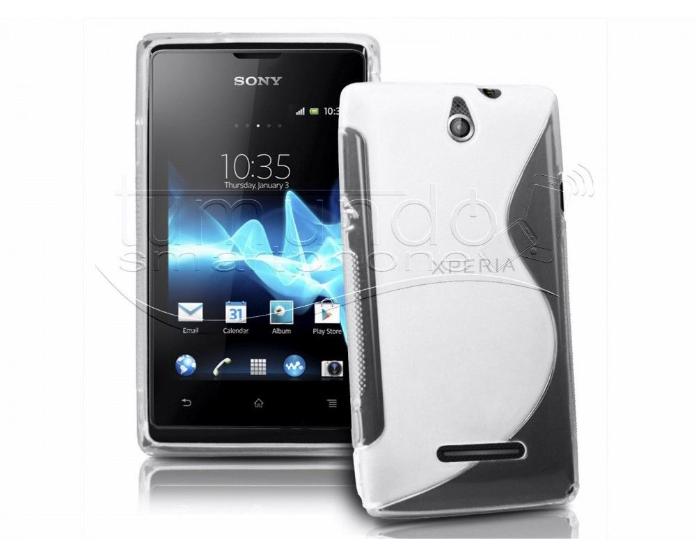 Funda Gel Tpu Sony Xperia E S Line Color Transparente