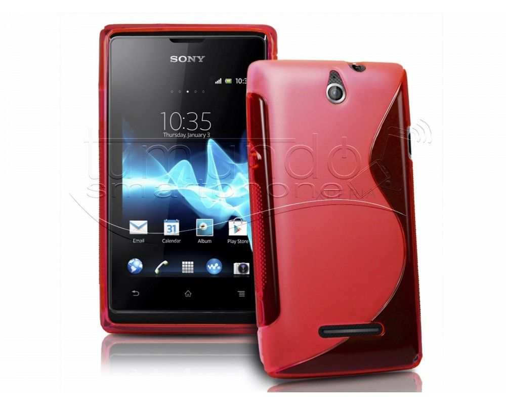 Funda Gel Tpu Sony Xperia E S Line Color Roja