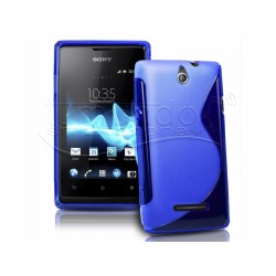 Funda Gel Tpu Sony Xperia E  S Line Color Azul