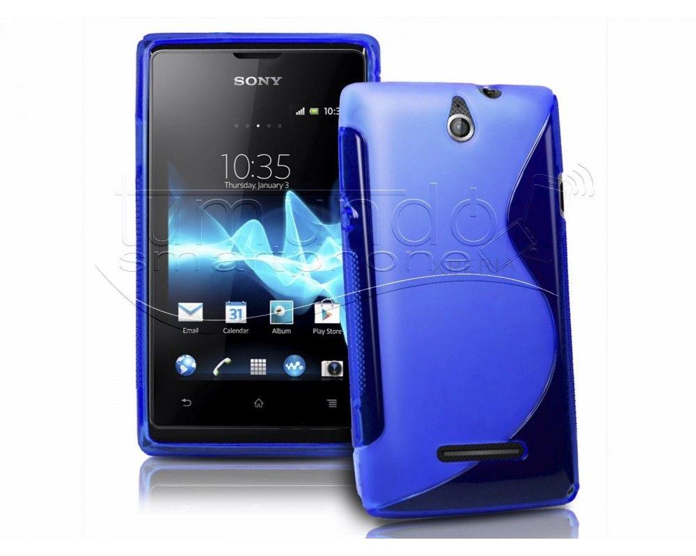 Funda Gel Tpu Sony Xperia E S Line Color Azul