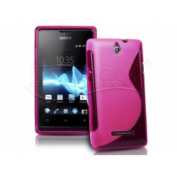 Funda Gel Tpu Sony Xperia E S Line Color Rosa