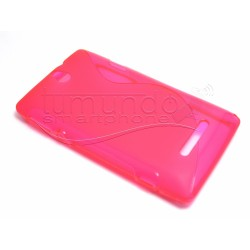Funda Gel Tpu Sony Xperia E  S Line Color Rosa