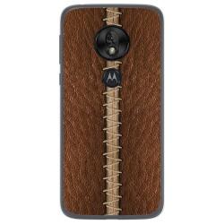 Funda Gel Tpu para Motorola Moto G7 Play diseño Cuero 01 Dibujos