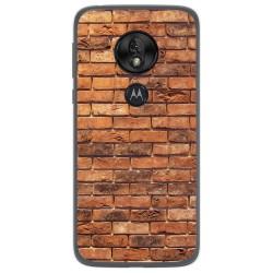 Funda Gel Tpu para Motorola Moto G7 Play diseño Ladrillo 04 Dibujos