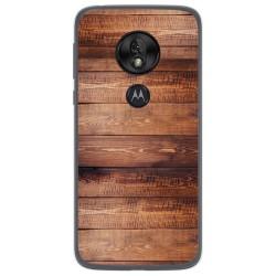 Funda Gel Tpu para Motorola Moto G7 Play diseño Madera 02 Dibujos