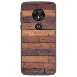 Funda Gel Tpu para Motorola Moto G7 Play diseño Madera 03 Dibujos