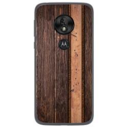 Funda Gel Tpu para Motorola Moto G7 Play diseño Madera 05 Dibujos