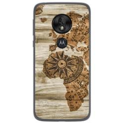 Funda Gel Tpu para Motorola Moto G7 Play diseño Madera 07 Dibujos