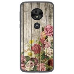 Funda Gel Tpu para Motorola Moto G7 Play diseño Madera 08 Dibujos