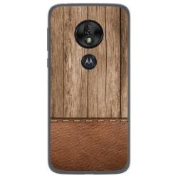 Funda Gel Tpu para Motorola Moto G7 Play diseño Madera 09 Dibujos