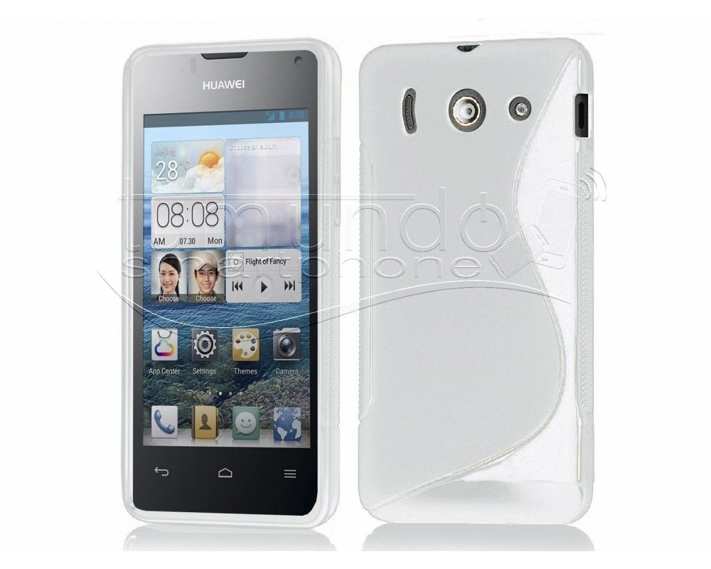 Funda Gel Tpu Huawei Ascend Y300 S Line Color Blanca