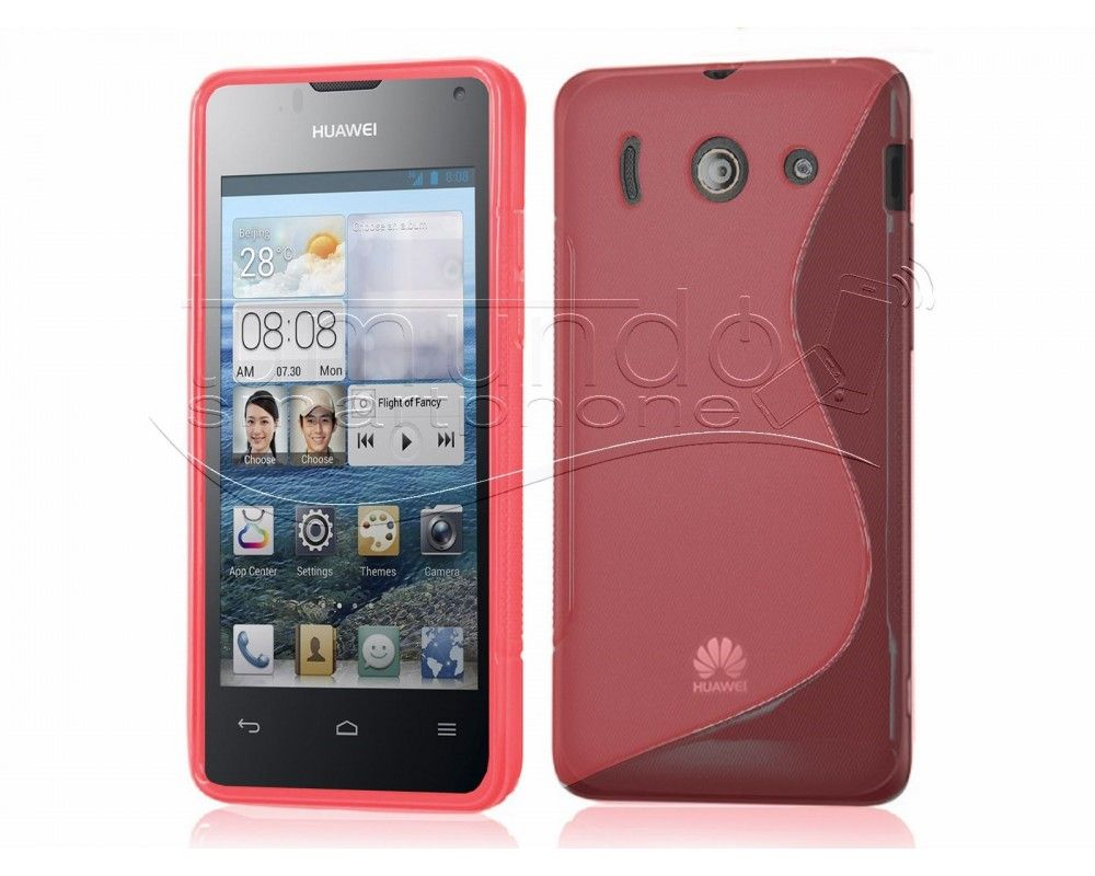 Funda Gel Tpu Huawei Ascend Y300 S Line Color Roja