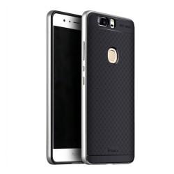 Funda Tipo Neo Hybrid (Pc+Tpu) Negra / Plata para Huawei Honor V8