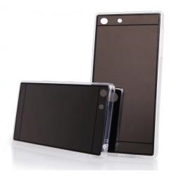 Funda Gel Tpu Efecto Espejo Gris para Sony Xperia M5
