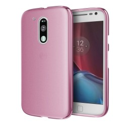 Funda Gel Tpu Motorola Moto G4 / G4 Plus  Color Rosa