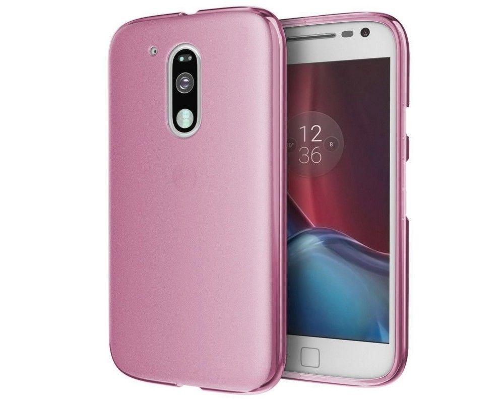 Funda Gel Tpu Motorola Moto G4 / G4 Plus Color Rosa