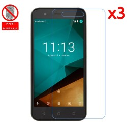 3x Protector Pantalla Mate Antihuellas (Anti-Glare) para Vodafone Smart Prime 7