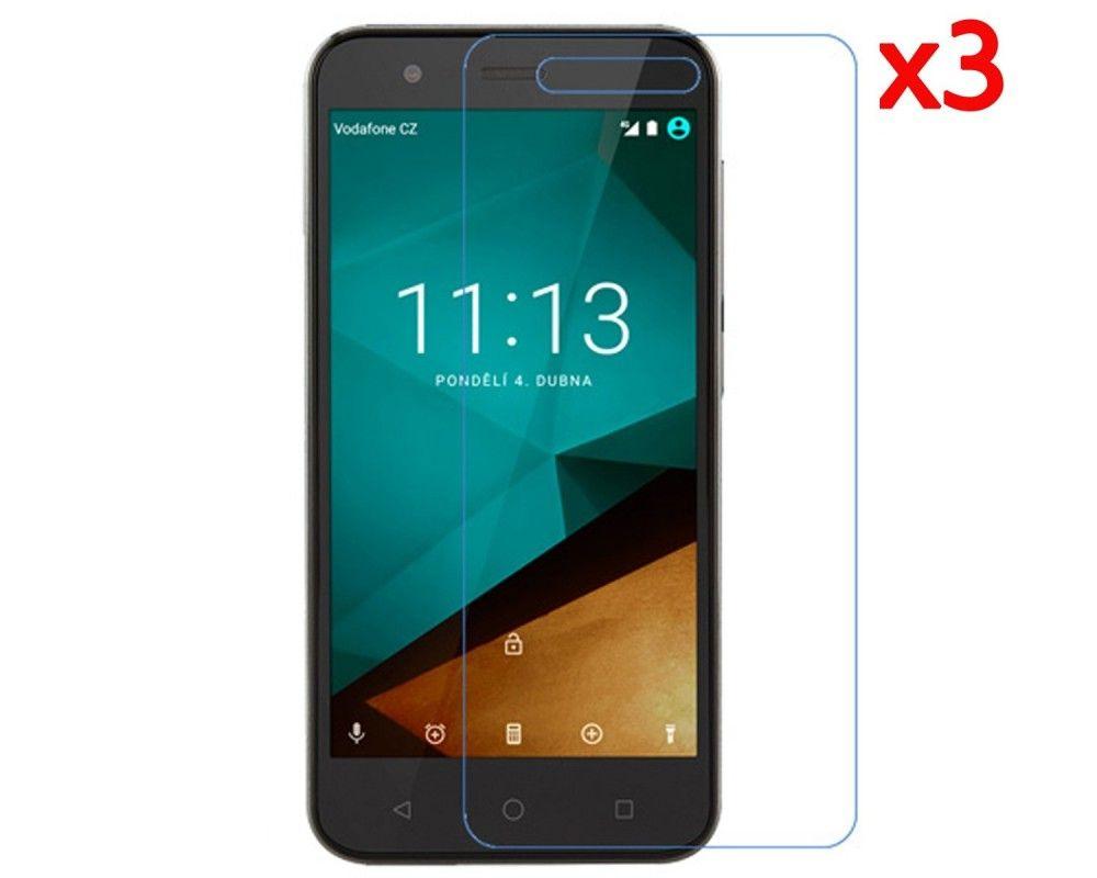 3x Protector Pantalla Ultra-Transparente para Vodafone Smart Prime 7