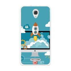 Funda Gel Tpu para Alcatel Pop 4+ Plus Diseño Cohete Dibujos