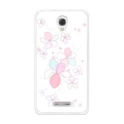 Funda Gel Tpu para Alcatel Pop 4+ Plus Diseño Flores-Minimal Dibujos