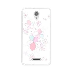Funda Gel Tpu para Alcatel Pop 4  Diseño Flores-Minimal Dibujos