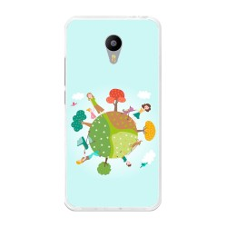 """Funda Gel Tpu para Meizu M3 Note 5.5"""" Diseño Familia Dibujos"""