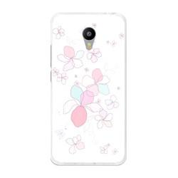 "Funda Gel Tpu para Meizu M3 Note 5.5"" Diseño Flores-Minimal Dibujos"