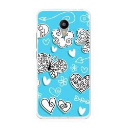 "Funda Gel Tpu para Meizu M3 Note 5.5"" Diseño Mariposas Dibujos"